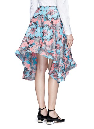 Back View - Click To Enlarge - Jourden - Hologram jacquard bias cut midi skirt