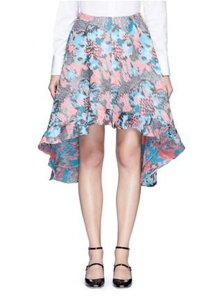 Main View - Click To Enlarge - Jourden - Hologram jacquard bias cut midi skirt