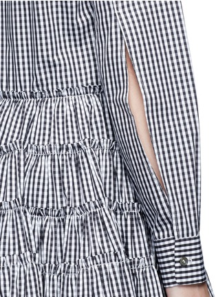 Detail View - Click To Enlarge - Jourden - Gingham check gathered shirt dress