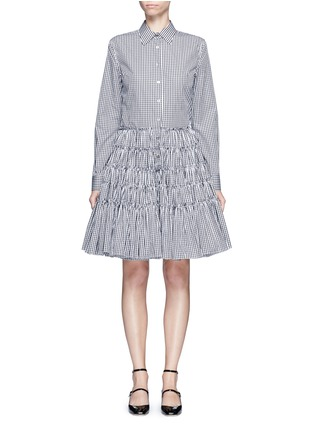 Main View - Click To Enlarge - Jourden - Gingham check gathered shirt dress