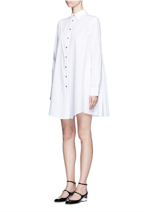 Front View - Click To Enlarge - Jourden - Gathered back cotton shirt dress