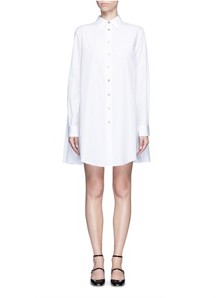 Main View - Click To Enlarge - Jourden - Gathered back cotton shirt dress