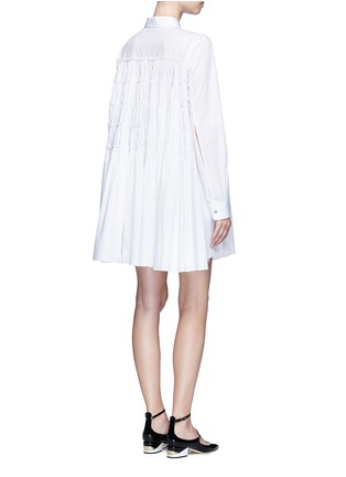 Figure View - Click To Enlarge - Jourden - Gathered back cotton shirt dress