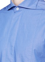 'Maran' cutaway collar chambray shirt