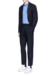 Barena'Maran' cutaway collar chambray shirt