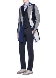 Barena'Piana' colourblock double breasted coat