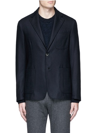Main View - Click To Enlarge - Barena - 'Brotto' soft wool blazer
