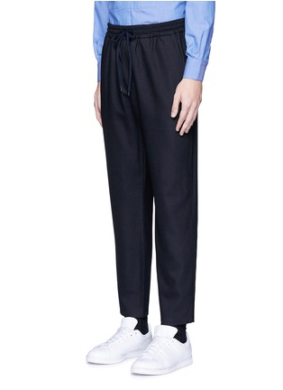 Front View - Click To Enlarge - Barena - Wool flannel jogging pants