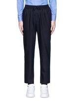 Wool flannel jogging pants