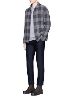 Barena'Rampin' roll cuff cross jacquard pants