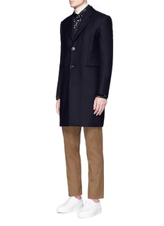 Paul Smith 'A Coat To Travel In' wool epsom coat