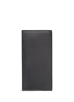Valextra - Leather vertical wallet