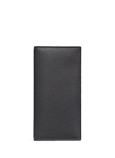 Valextra Leather vertical wallet