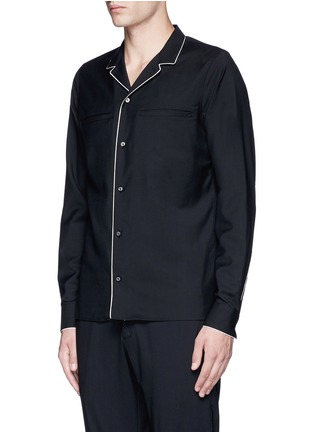 Front View - Click To Enlarge - Valentino - Wool-Mohair pyjama shirt