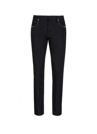 Main View - Click To Enlarge - Valentino - 'Rockstud Untitled 06' denim chinos