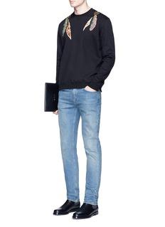 ValentinoFeather embroidered sweatshirt