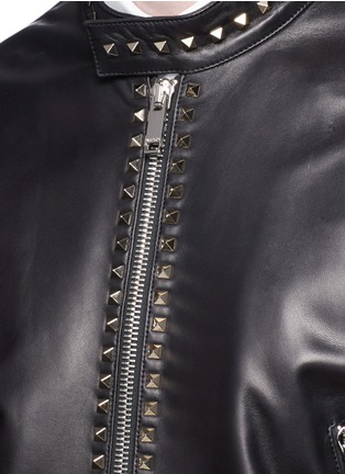 Detail View - Click To Enlarge - Valentino - 'Rockstud Untitled 04' leather jacket