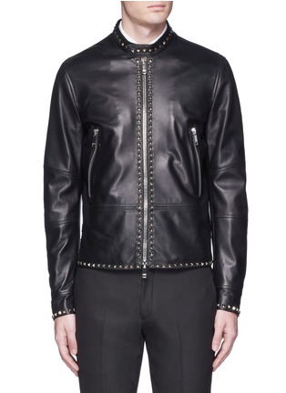 Main View - Click To Enlarge - Valentino - 'Rockstud Untitled 04' leather jacket