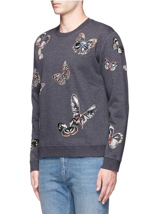 Front View - Click To Enlarge - Valentino - 'Camubutterfly' embroidery sweatshirt