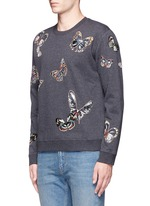 'Camubutterfly' embroidery sweatshirt