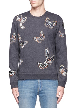 Main View - Click To Enlarge - Valentino - 'Camubutterfly' embroidery sweatshirt