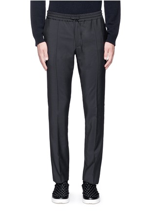 Main View - Click To Enlarge - Valentino - Tailored wool-Mohair jogging pants