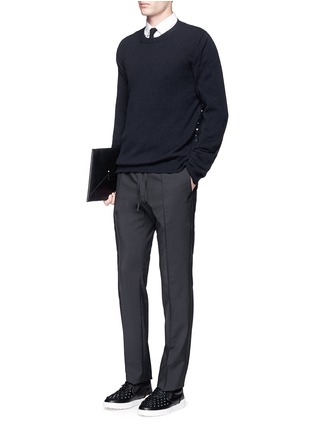 Figure View - Click To Enlarge - Valentino - Tailored wool-Mohair jogging pants
