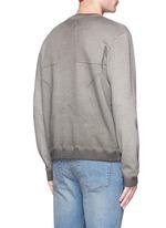 Star embossed sweatshirt