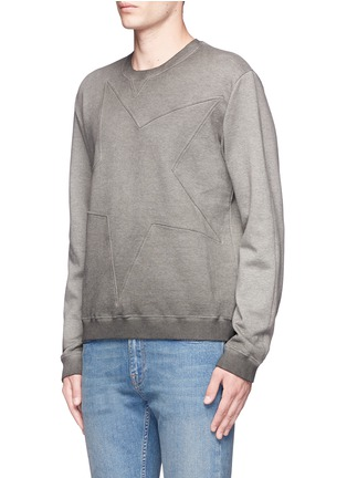 Front View - Click To Enlarge - Valentino - Star embossed sweatshirt