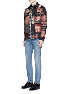 ValentinoTribal patchwork shirt jacket