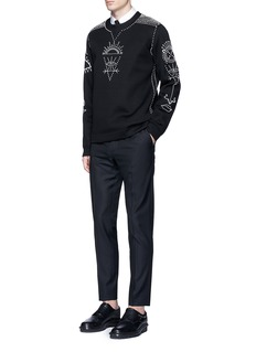 Valentino Tribal embellished neoprene sweatshirt