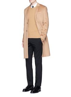 ValentinoRockstud Untitled 10' camel hair coat