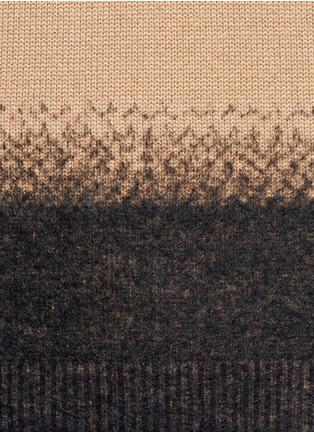Valentino-Needle punch hem cashmere-wool sweater