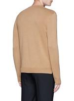 Needle punch hem cashmere-wool sweater