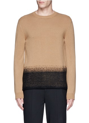 Main View - Click To Enlarge - Valentino - Needle punch hem cashmere-wool sweater