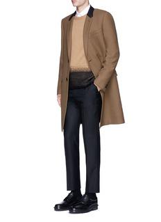 Valentino Needle punch hem cashmere-wool sweater