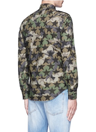 Back View - Click To Enlarge - Valentino - 'Camustars' cotton poplin shirt
