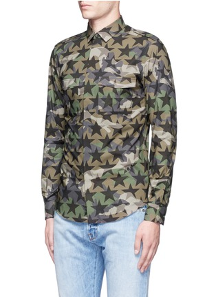 Front View - Click To Enlarge - Valentino - 'Camustars' cotton poplin shirt