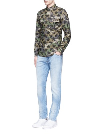 Figure View - Click To Enlarge - Valentino - 'Camustars' cotton poplin shirt