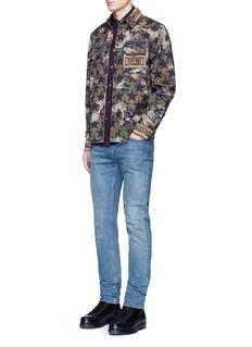 Valentino'Camustars' print embellished shirt jacket