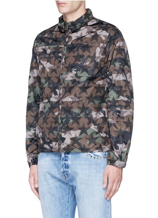 Front View - Click To Enlarge - Valentino - 'Camustars' print windbreaker jacket