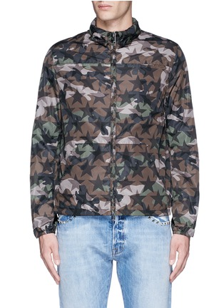 Main View - Click To Enlarge - Valentino - 'Camustars' print windbreaker jacket
