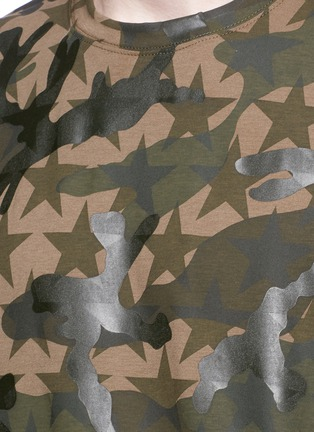 Detail View - Click To Enlarge - Valentino - 'Camustars' cotton T-shirt
