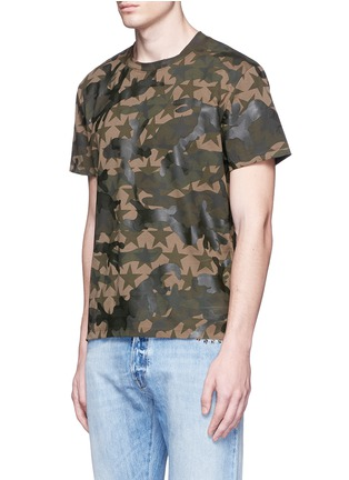 Front View - Click To Enlarge - Valentino - 'Camustars' cotton T-shirt
