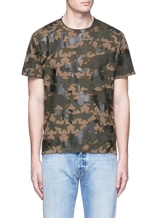 Main View - Click To Enlarge - Valentino - 'Camustars' cotton T-shirt