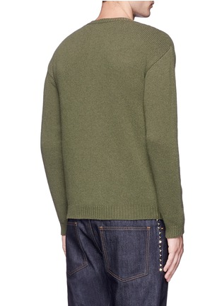 Back View - Click To Enlarge - Valentino - Star patch wool-cashmere sweater