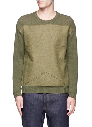Main View - Click To Enlarge - Valentino - Star patch wool-cashmere sweater