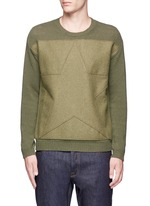 Star patch wool-cashmere sweater