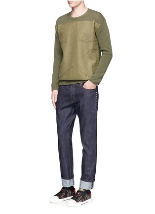 Figure View - Click To Enlarge - Valentino - Star patch wool-cashmere sweater
