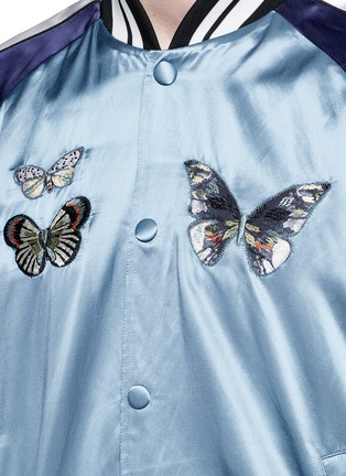 Detail View - Click To Enlarge - Valentino - 'Camubutterfly' satin souvenir jacket